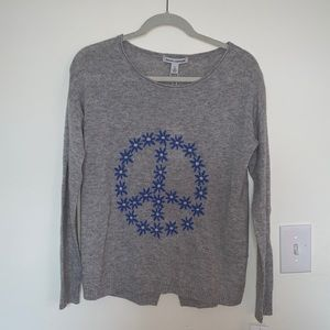 Autumn Cashmere Sweaters - BNWT Autumn Cashmere peace sign sweater size M!